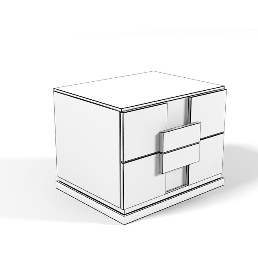 Table de chevet Benedetti Mobili Namib Nuit moderne avec mobilier de chambre royalty-free 3d model - Preview no. 5