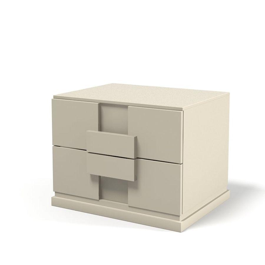 Table de chevet Benedetti Mobili Namib Nuit moderne avec mobilier de chambre royalty-free 3d model - Preview no. 1