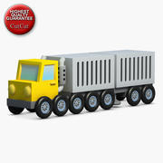 Construction Icons 03 Truck Trailer 3d model
