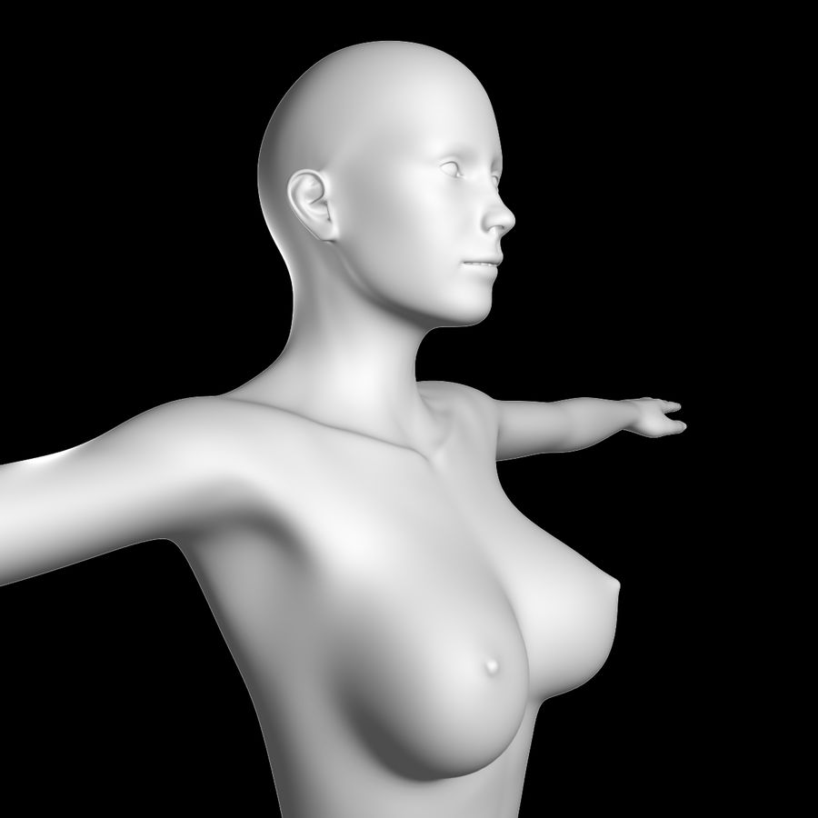 Sexy_Female_BaseMesh royalty-free 3d model - Preview no. 2