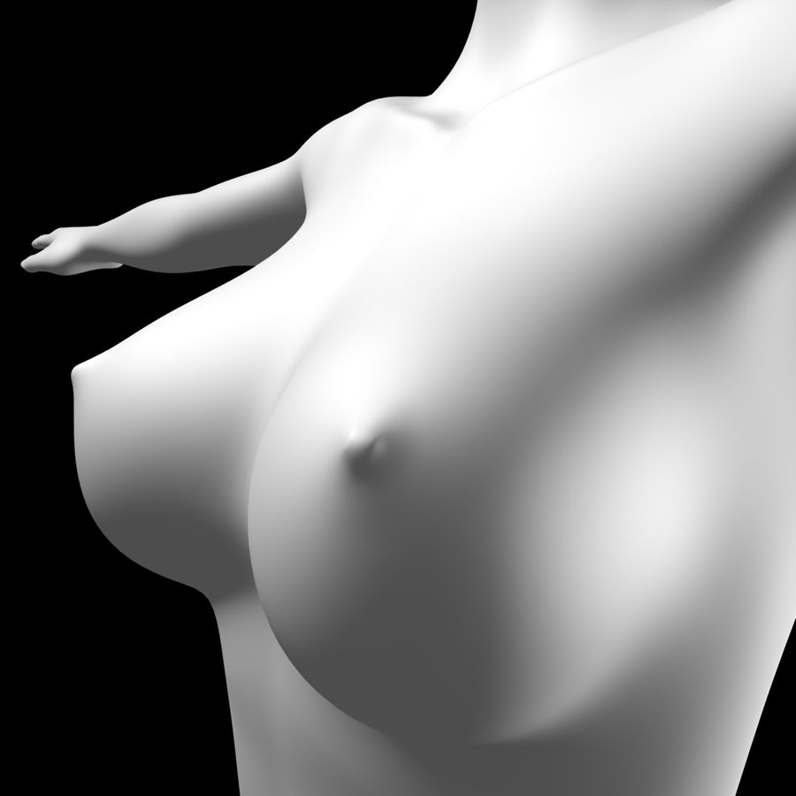 Sexy_Female_BaseMesh royalty-free 3d model - Preview no. 3