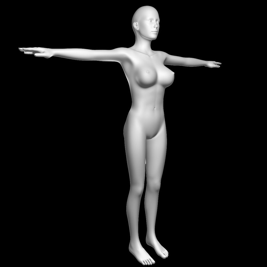 Sexy_Female_BaseMesh royalty-free 3d model - Preview no. 8