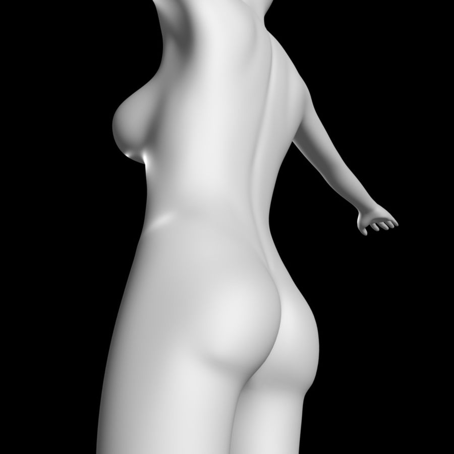 Sexy_Female_BaseMesh royalty-free 3d model - Preview no. 5