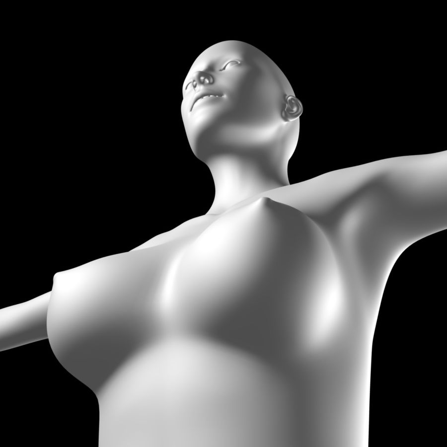 Sexy_Female_BaseMesh royalty-free 3d model - Preview no. 4