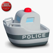 Construction Icons 48 Police Boat 3d model