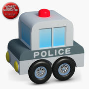 Construction Icons 47 Police Car 3d model
