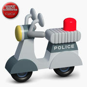 Construction Icons 46 Police Scooter 3d model