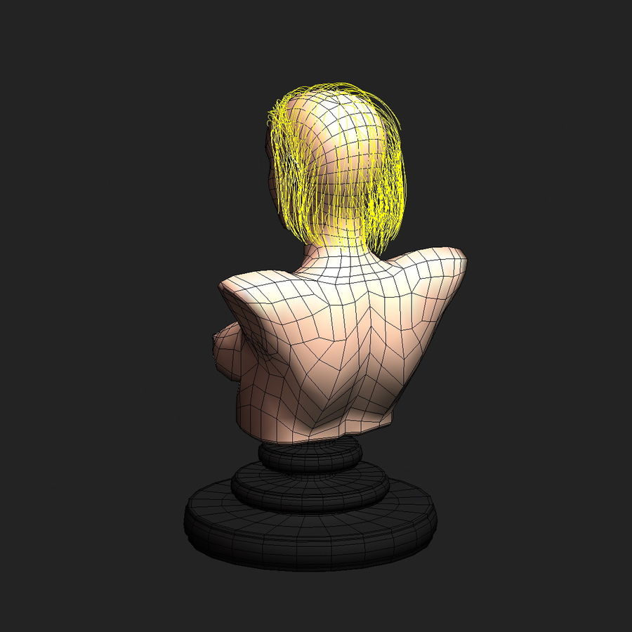 Virtual Hair 6 royalty-free 3d model - Preview no. 12