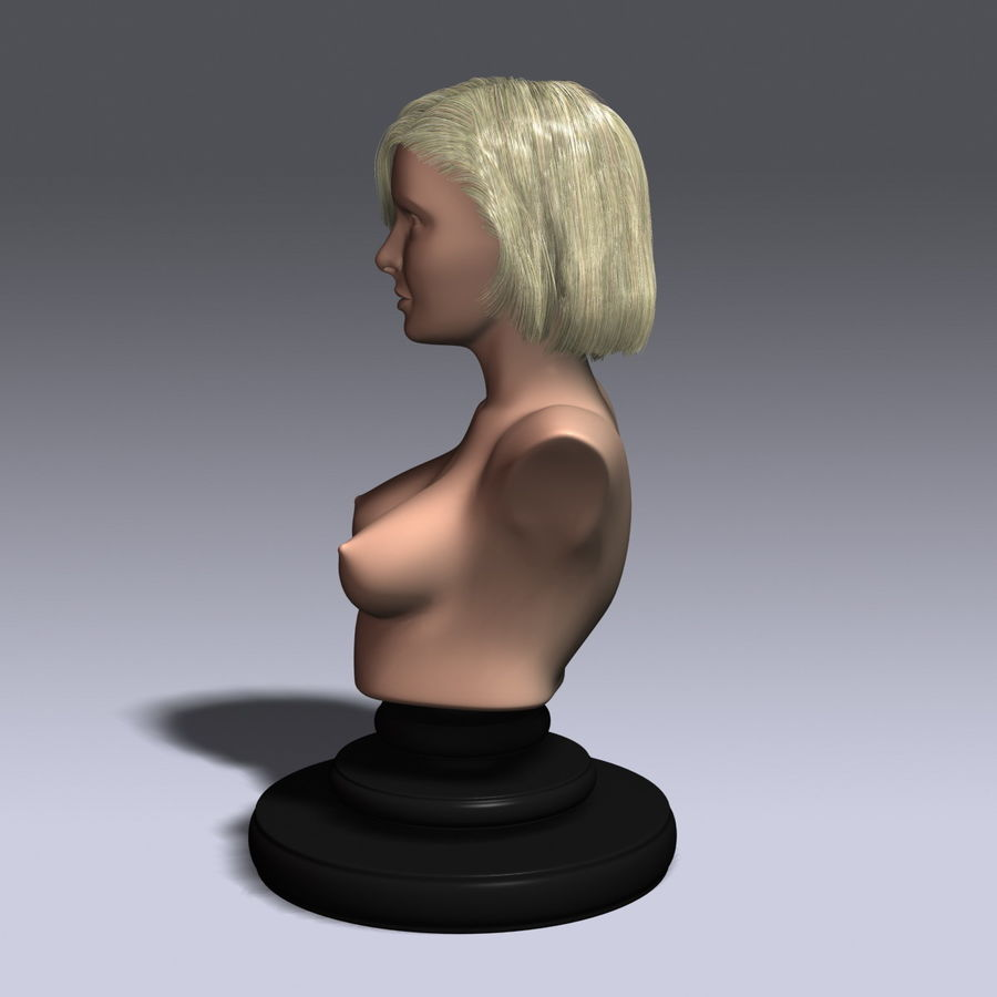 Virtual Hair 6 royalty-free 3d model - Preview no. 3