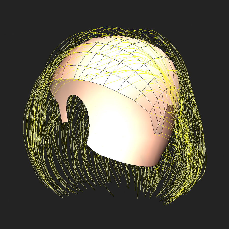 Virtual Hair 6 royalty-free 3d model - Preview no. 13