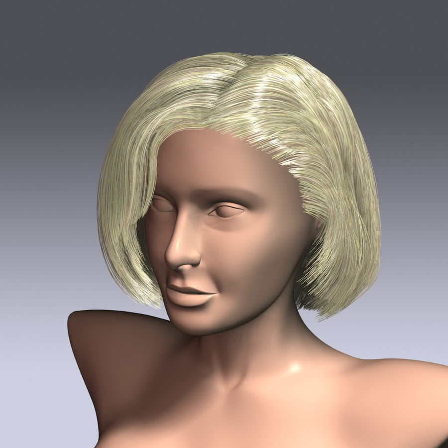 Virtual Hair 6 royalty-free 3d model - Preview no. 1