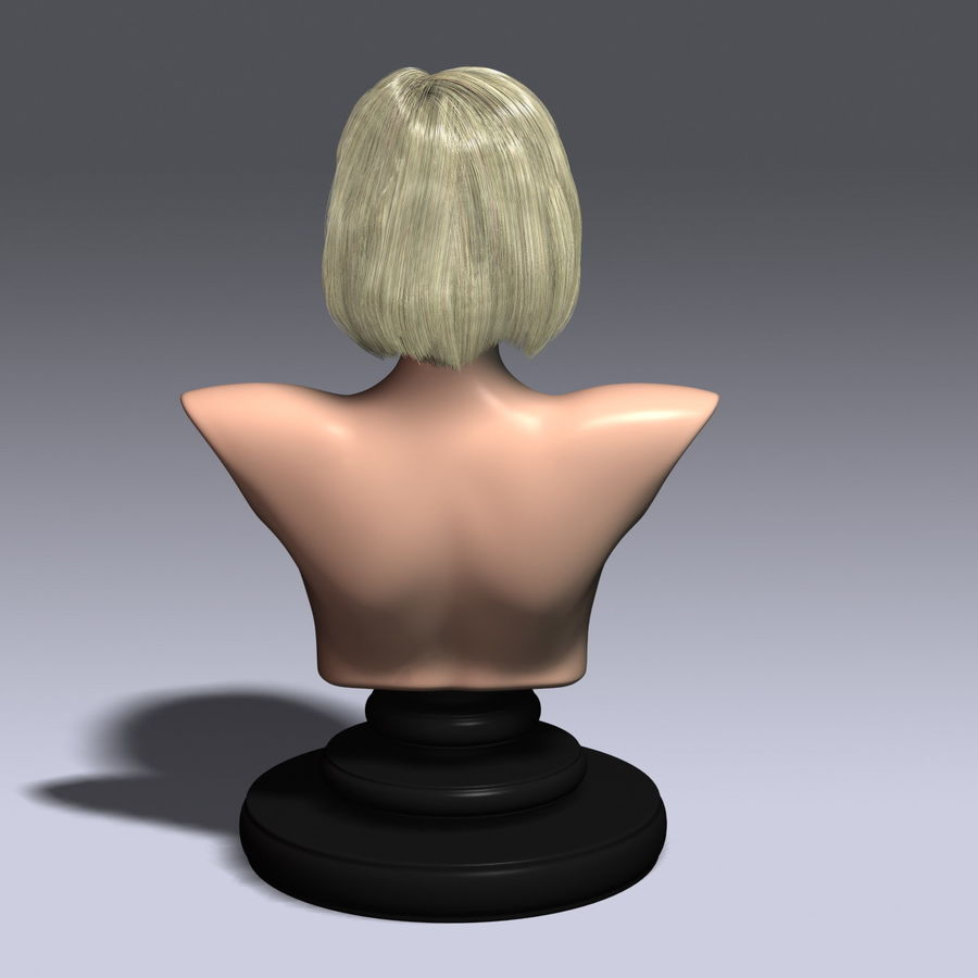 Virtual Hair 6 royalty-free 3d model - Preview no. 4