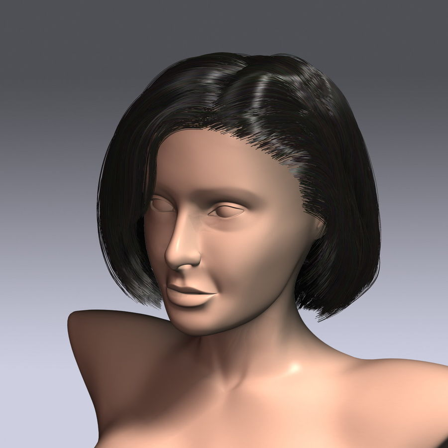 Virtual Hair 6 royalty-free 3d model - Preview no. 5