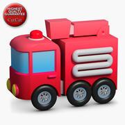 Bouwpictogrammen 44 Brandweerwagen 1 3d model