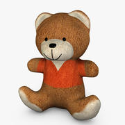 Teddy Bear with Orange Shirt 3d model