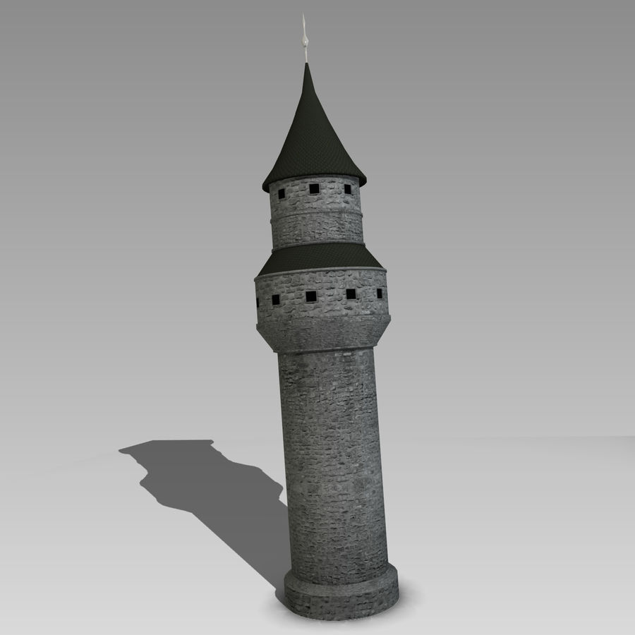 Tour du château royalty-free 3d model - Preview no. 2