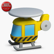 Construction Icons 21 Helicopter 1 3d model