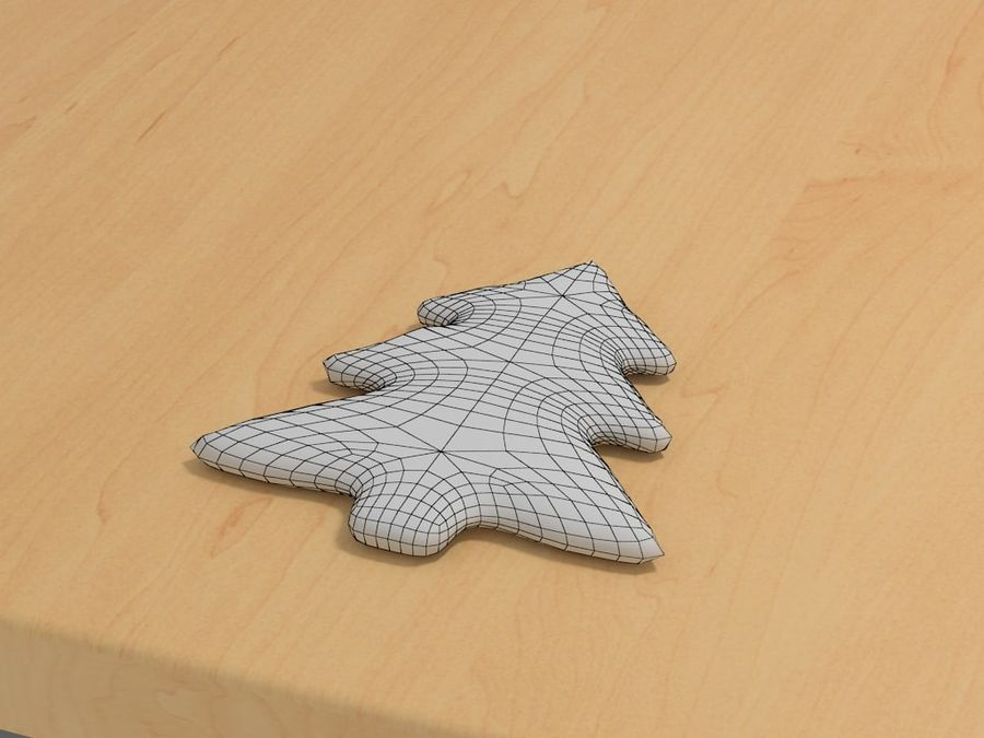Gingerbread cookie royalty-free 3d model - Preview no. 3