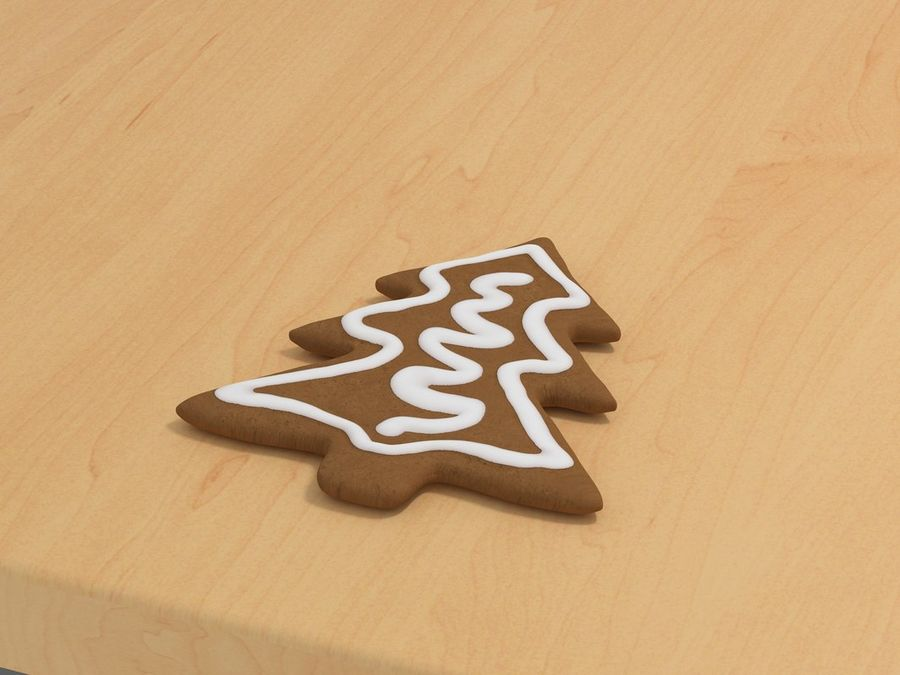Gingerbread cookie royalty-free 3d model - Preview no. 1