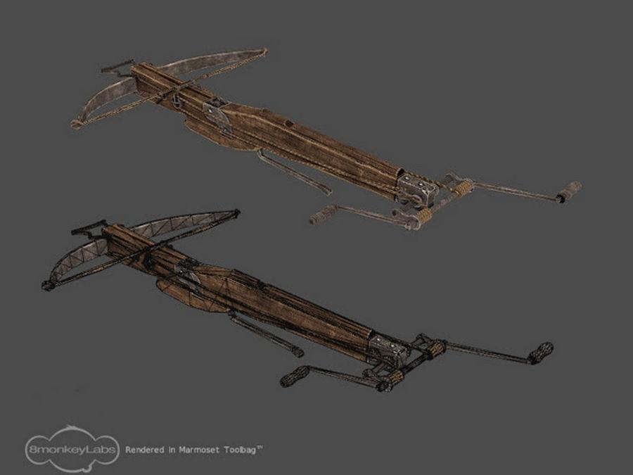 Medieval Crossbow 3D Model $3 -  unknown  obj - Free3D