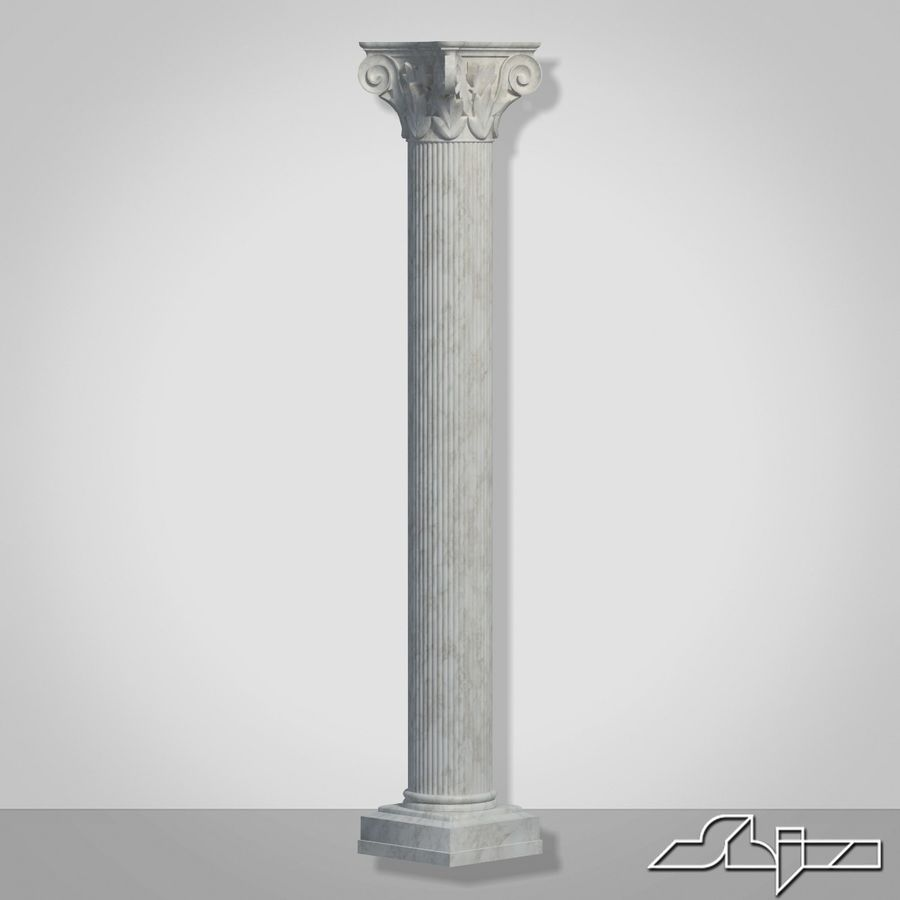 Column 1 royalty-free 3d model - Preview no. 4