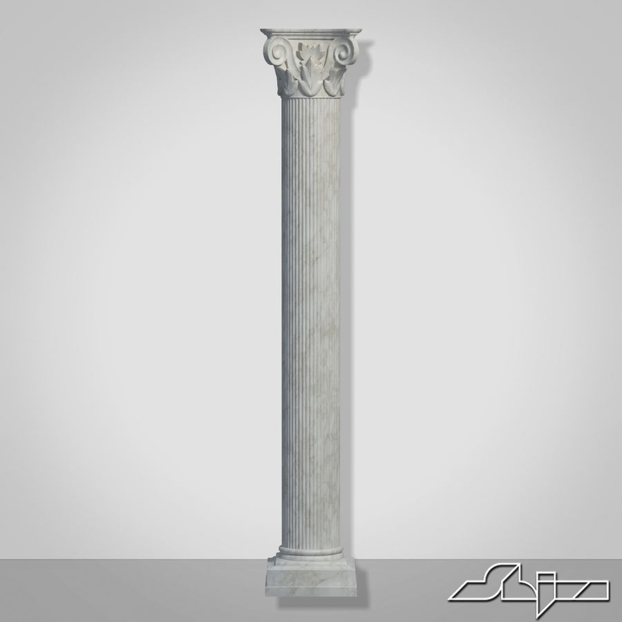 Column 1 royalty-free 3d model - Preview no. 3