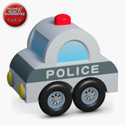 Construction Icons 49 Police Small Car 3d model