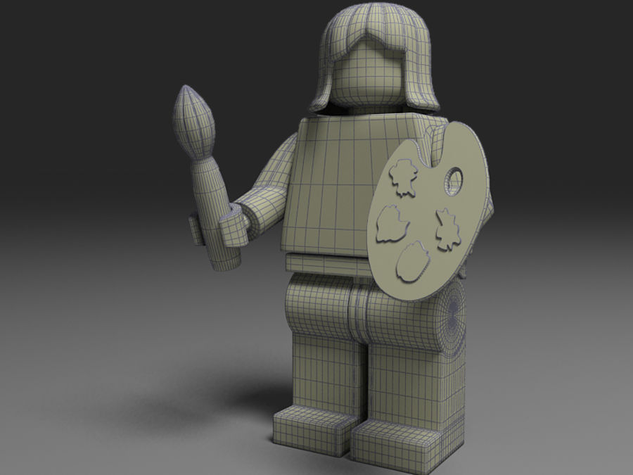 lego vrouw royalty-free 3d model - Preview no. 2