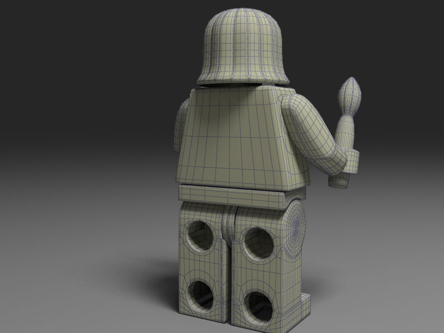 lego vrouw royalty-free 3d model - Preview no. 4