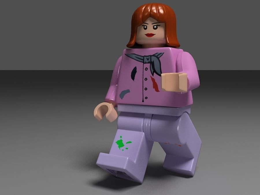 lego vrouw royalty-free 3d model - Preview no. 5