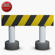 Construction Icons 08 Barrier 1 3d model