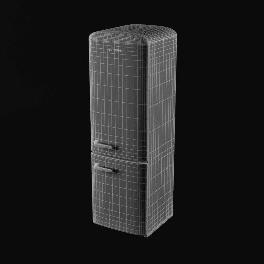 Gorenje Fridge royalty-free 3d model - Preview no. 8