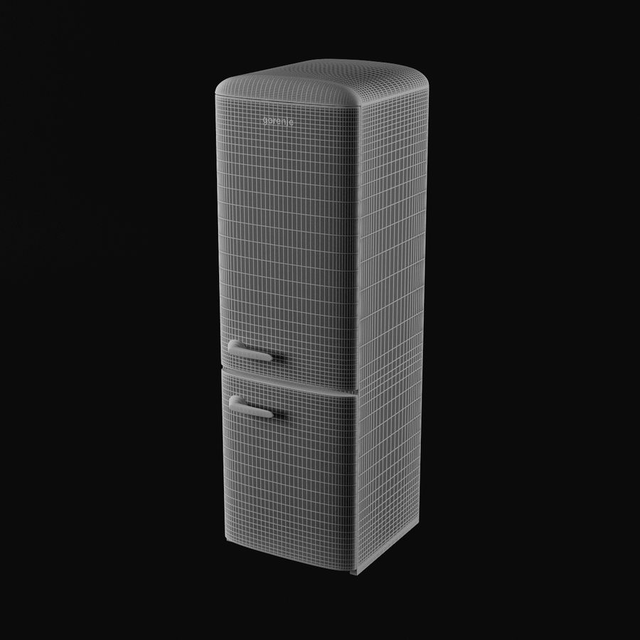 Gorenje Fridge royalty-free 3d model - Preview no. 7