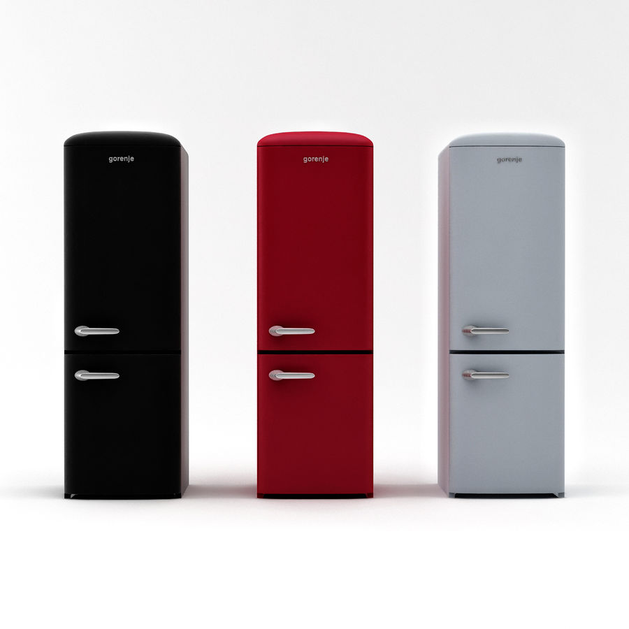 Gorenje Fridge royalty-free 3d model - Preview no. 5
