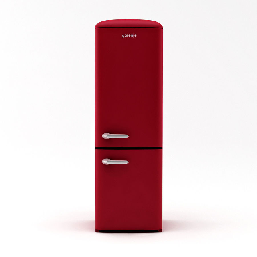Gorenje Fridge royalty-free 3d model - Preview no. 4