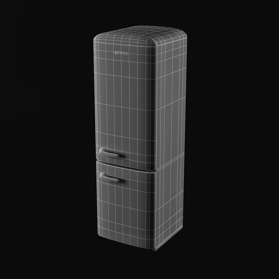 Gorenje Fridge royalty-free 3d model - Preview no. 9