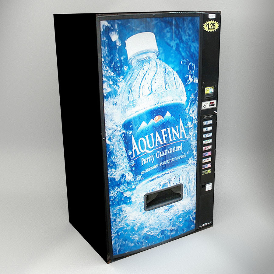 VENDING MACHINES royalty-free 3d model - Preview no. 6