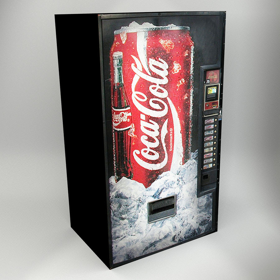 VENDING MACHINES royalty-free 3d model - Preview no. 7