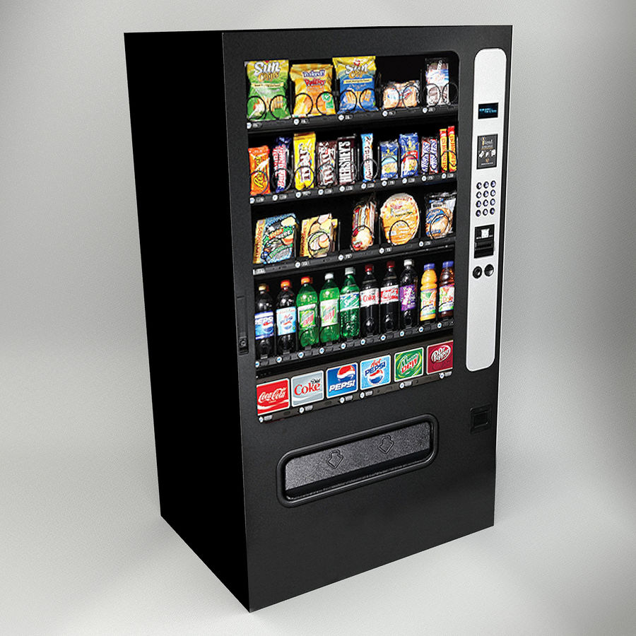VENDING MACHINES royalty-free 3d model - Preview no. 3