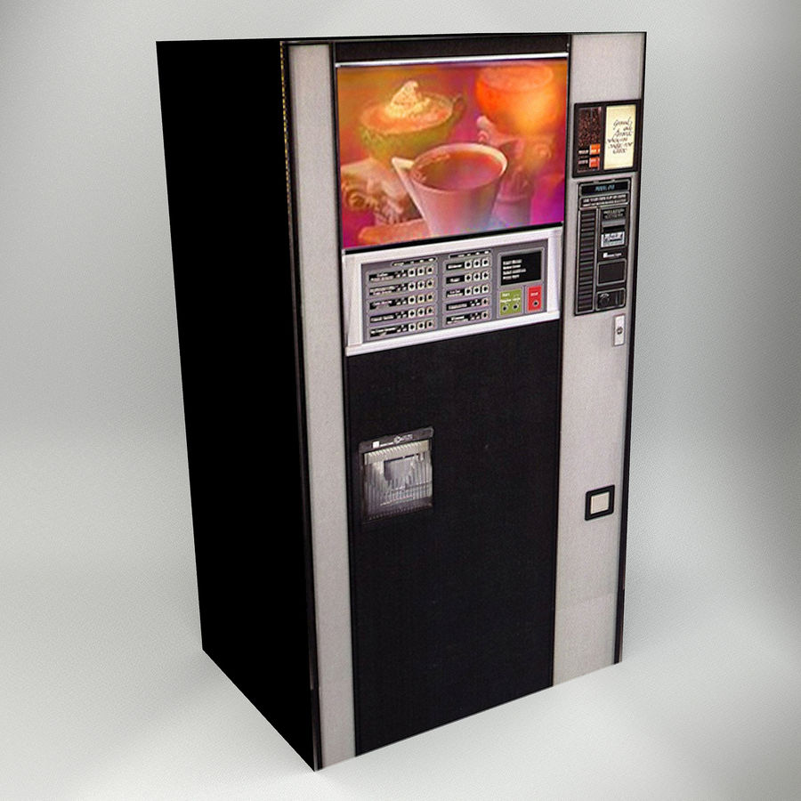 VENDING MACHINES royalty-free 3d model - Preview no. 9