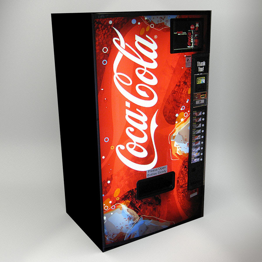 VENDING MACHINES royalty-free 3d model - Preview no. 4