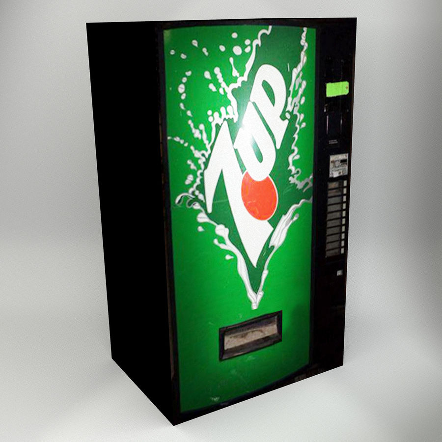 VENDING MACHINES royalty-free 3d model - Preview no. 8