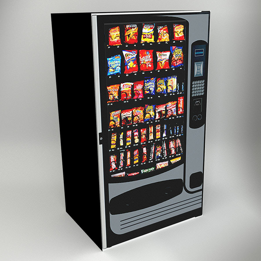 VENDING MACHINES royalty-free 3d model - Preview no. 1