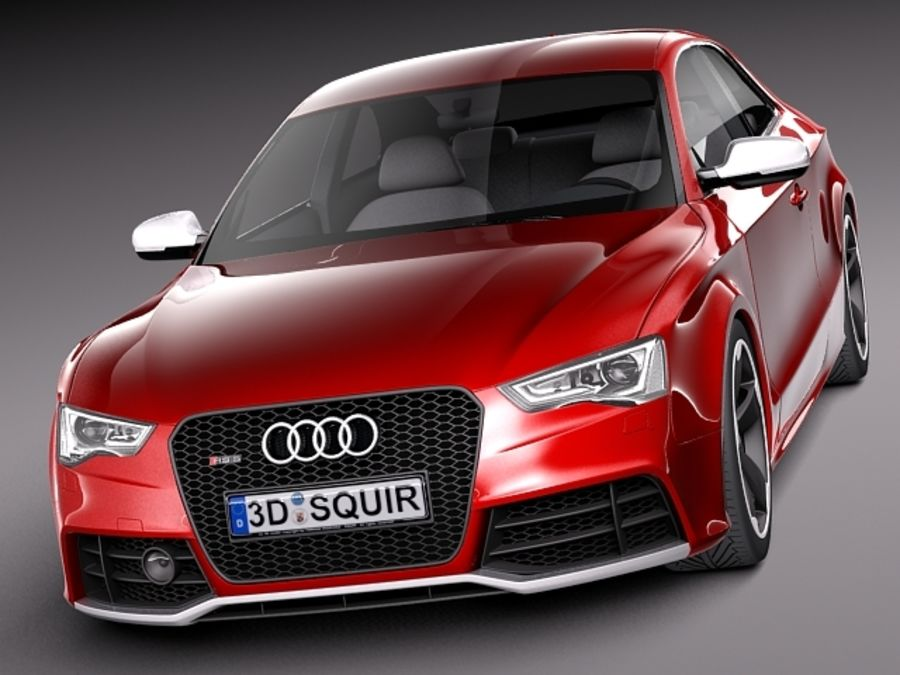 Audi RS5 2012 royalty-free 3d model - Preview no. 2