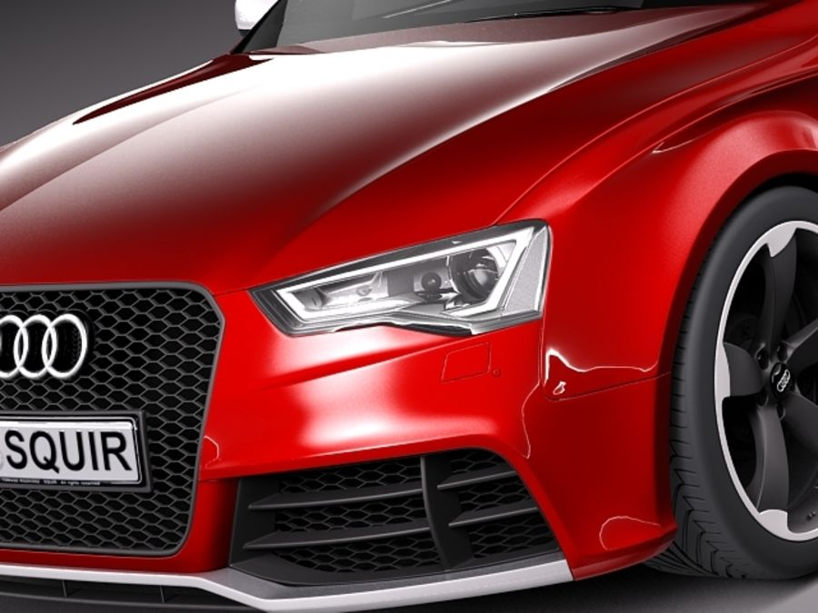 Audi RS5 2012 royalty-free 3d model - Preview no. 3