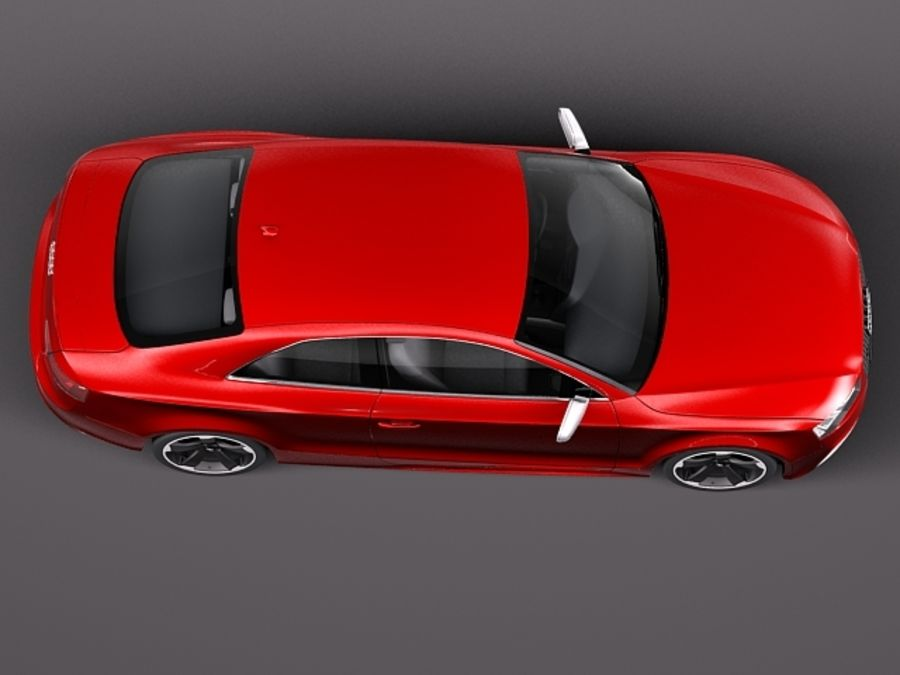 Audi RS5 2012 royalty-free 3d model - Preview no. 8