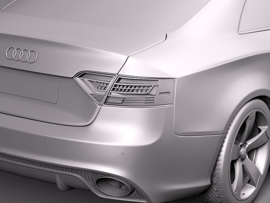 Audi RS5 2012 royalty-free 3d model - Preview no. 10