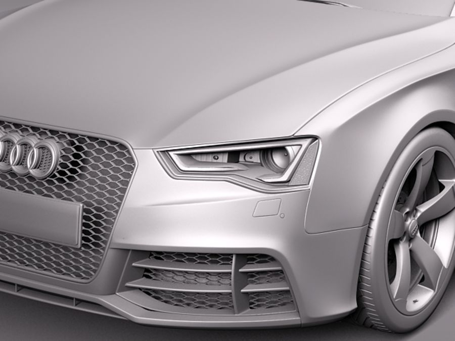 Audi RS5 2012 royalty-free 3d model - Preview no. 11