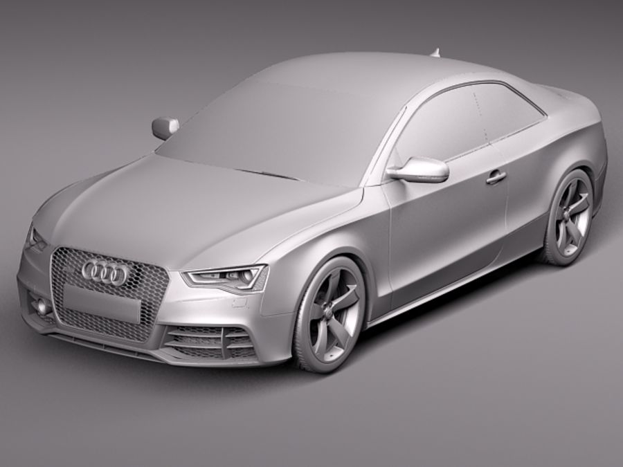 Audi RS5 2012 royalty-free 3d model - Preview no. 12