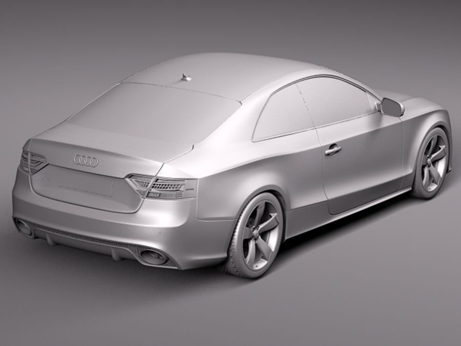 Audi RS5 2012 royalty-free 3d model - Preview no. 9
